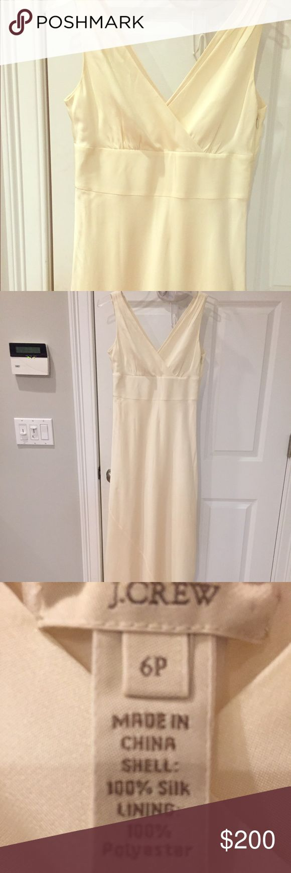 J Crew 100% silk wedding dress Worn once (!), dry cleaned and then stored in original box wrapped in tissue. Includes box and garment bag. One small spot on back of dress shown in last photo. Otherwise perfect condition! J. Crew Dresses Wedding
