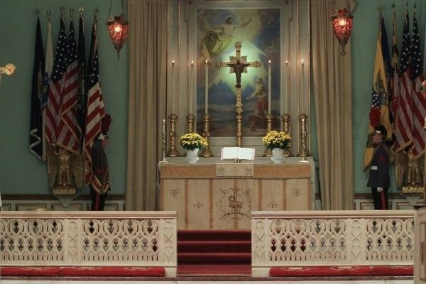Valley Forge Military Academy College Church Hall S Altar Behind An Elegant Carved Marble Fence Military Academy Marble Fence Altar