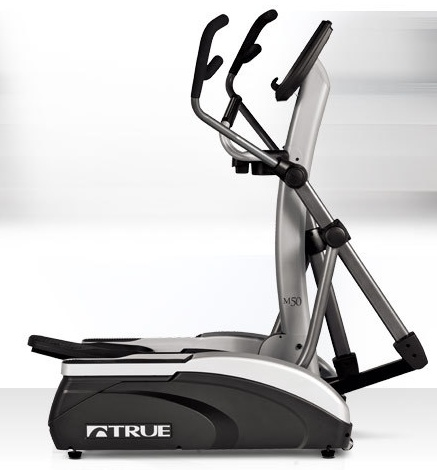 The sleek, curved profile of the M50 elliptical brings a modern, polished look to home cardio equipment. Featuring ergonomic multi-grip handles and orthopedic cushioned footpads, the M50 elliptical is equipped with premium user-focused features.  Paired with TRUE's legendary patented Heart Rate Control technology and HRC Cruise Control, the new M50 elliptical truly maximizes your fitness investment and it's a great choice for the space-conscious consumer.