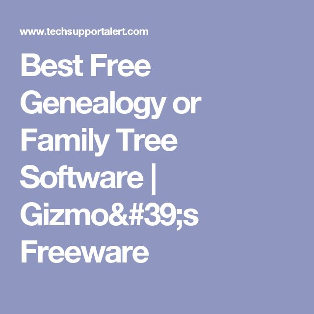 best free genealogy family tree software