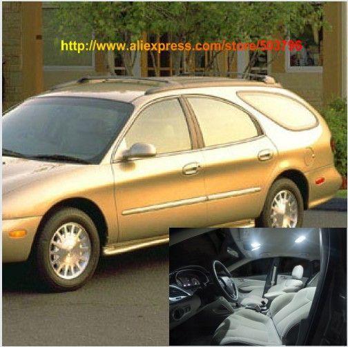 Free Shipping 13pcs/lot White 12 volt Interior Car LED Lights For Mercury Sable Wagon 1996-1999