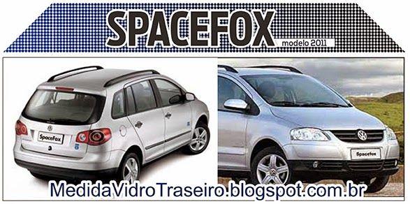 Medida Vidro Traseiro: Spacefox modelo 2008: Medida Vidro Traseiro (Adesi...