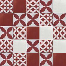 artisan tile Toulouse Mist / Crimson