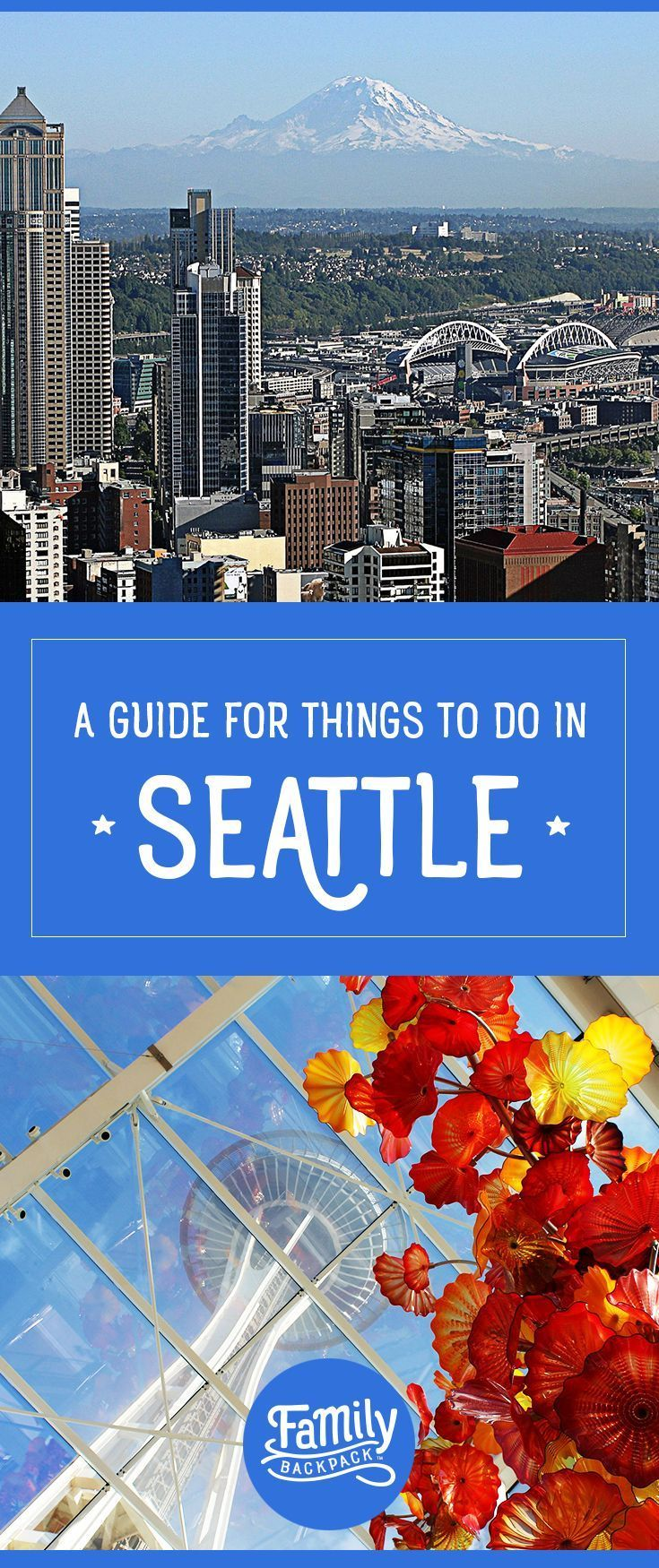 A Guide for Things to do in Seattle-  #Seattle, Washington is a city with everything to offer! If you are looking for #fun #thingstodo, where to stay, what #outfit to wear, or even the best place for a #photography shoot- We have you covered! Check out The Family Backpack's collection of tips and suggestions for visiting Seattle. Make Seattle your next travel #adventure!