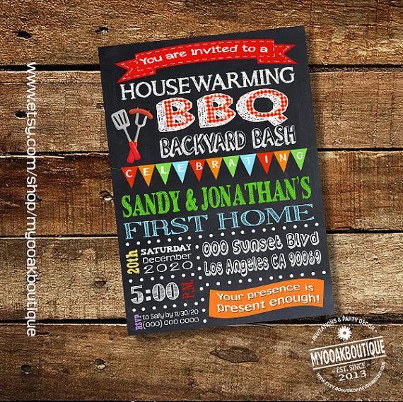 BBQ party invitation maison-réchaud barbecue portes ouvertes inviter nouvelle maison numérique imprimable invitation crémaillère 13604