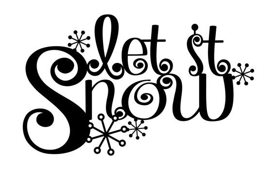 Let it Snow Metal Wall Art Christmas Decor by RefinedInspirations, $24.95
