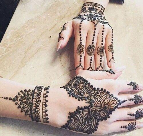 arabic unique mehndi design for hands