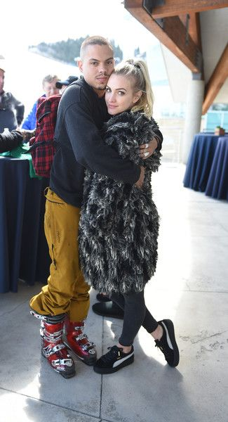 Evan Ross and Ashlee Simpson-Ross attend the Celebrity Ski & Smile Challenge