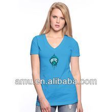Wholesale stylish custom printed lotus flower v collar t shirt Best Seller follow this link http://shopingayo.space