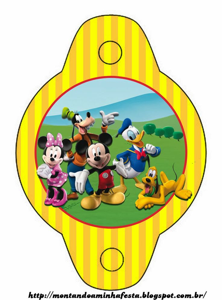 mickey mouse playhouse free party printables right click and save as - Mickey Mouse Pictures Printable