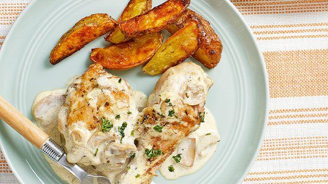 Herbed Chicken with Mushroom Sauce Recipe