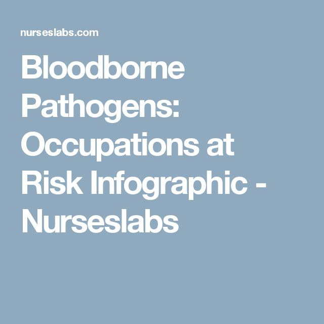 Bloodborne Pathogens: Occupations at Risk Infographic - Nurseslabs