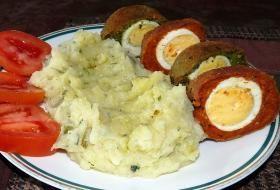Pštrosí vejce s bramborovou kaší