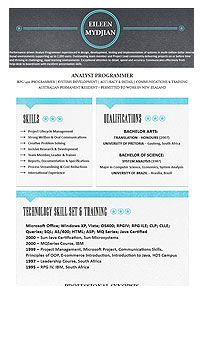 Professional Resume Format With Blue Accents And Black Header.