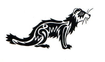 tribal ferret tattoo