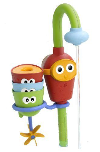 Baby Bath Toy   Flow Nu0027 Fill Spout   Three Stackable Cups And Automated  Spout Yookidoo