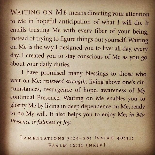 (Lamentations 3:24-26) - (Isaiah 40:31) - (Psalm 16:11) My Devotion for today March 26 ❤ Self - Examination