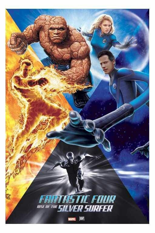 Rotten Tomatoes with Critic Score-27% and User Score-51% Fantastic 4: Rise of the Silver Surfer. Welsh actor Ioan Gruffudd as Reed Richards/Mr.Fantastic, actor Michael Chiklis as Ben Grimm/The Thing, actor Chris Evan as Johnny Storm/ Human Touch, actress Jessica Alba as Sue Storm/Invisible Woman. Fantastic 4: Rise of the Silver Surfer