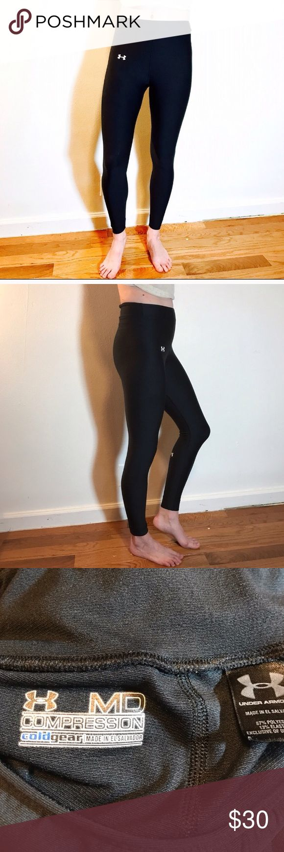 Under Armor compression leggings They say they are a size medium, but fit like a small or xs. Under Armour Pants Leggings