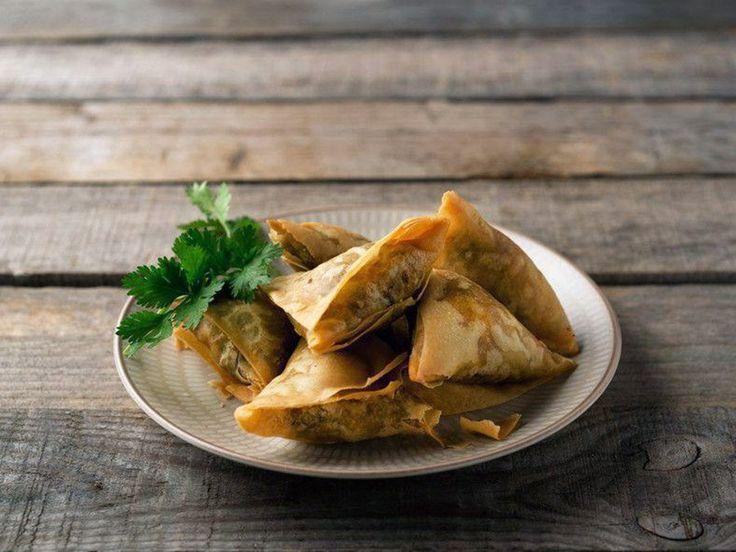 Chamuças de legumes: Vegetable samosas recipe