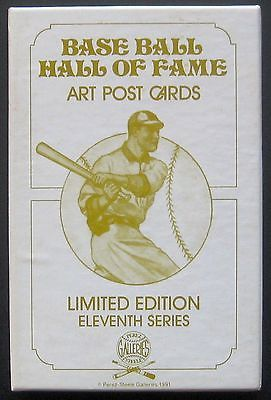 Perez Steele Baseball HOF Art Postcards Series 11 2 Auto-Perry Jenkins FS