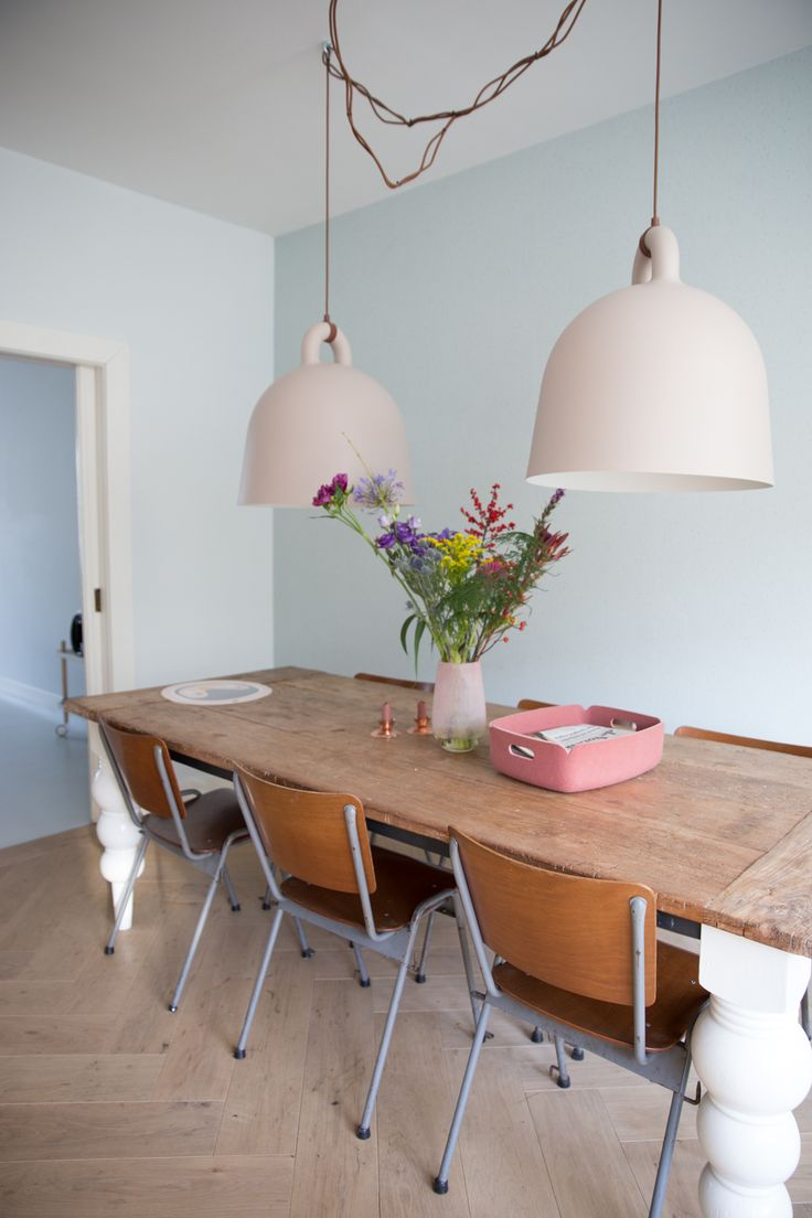 home, interior, colour, soft, dining room, table, lighting