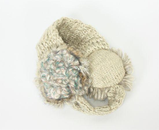 パステルニットイヤーヘアバンド / Pastel knit ear hair band