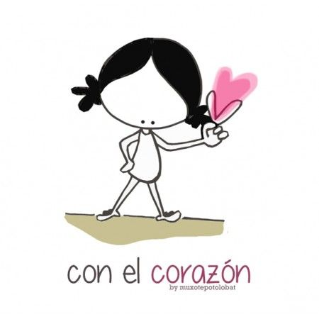 """Lámina """"Con el corazón..."""" Sentir, mirar, caminar.... con el corazón, desde el corazón. Encontrarse, descubrir, (co)crear... con el corazón. Vivir con el corazón. Desde el corazón. Eeeeegunon mundo!!"""