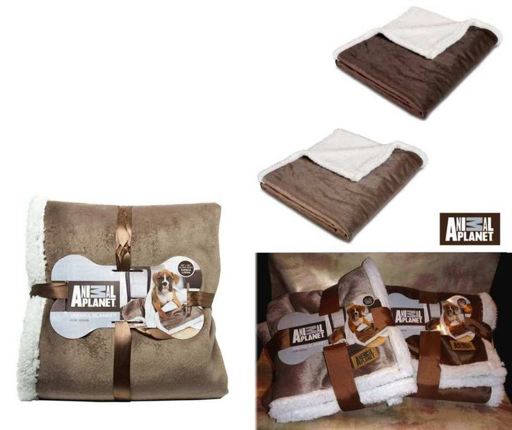Dog Blanket Sherpa Fleece-Animal Planet-Brown Beige-Pet Couch Seat Crate Cover #ANIMALPLANET