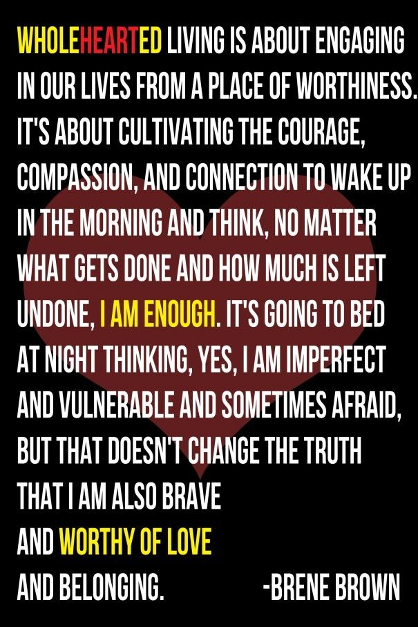 via saying images |  #brene brown #wholehearted living #quotes