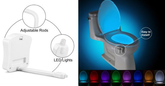 Motion Activated Glow Toilet Bowl Light $8.99 (Reg. $20.84)  This is so cool get one for your bathroom!  This product is so cool! Head over to Amazon and get your ownMotion Activated Glow Toilet Bowl Light. Have your toilet light up every time you open the toilet cover.Get to choose the color that you want theres so many to choose from plus this device is so easy to install!  Motion Activated Glow Toilet Bowl Light $8.99 (Reg. $20.84)  Ships Free with Amazon Prime (Try a FREE Membership)…