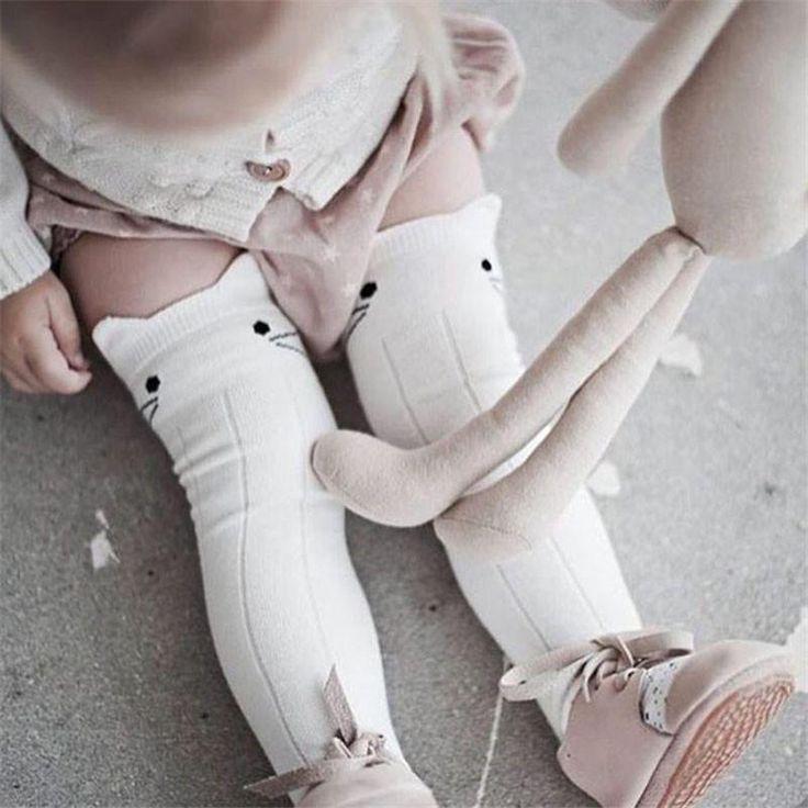 Cat Knee High Socks | Baby Socks | Horse & Bunny