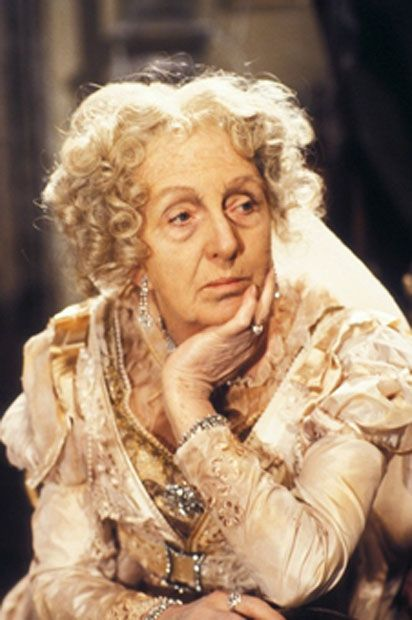 Joan Hickson as Miss Havisham in Great Expectations in 1981- Miss Havisham is a purposefully 'unreal' character. Time has stood still for her: and looks like a waxwork