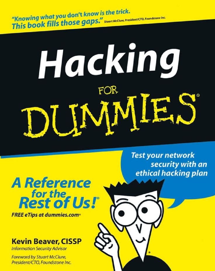 Hacking for dummies (2004) Books, How to plan, Ebooks