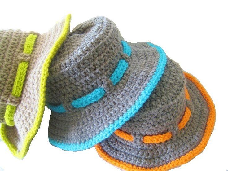 Mejores 70 imágenes de CROCHET HATS en Pinterest | Sombreros de ...