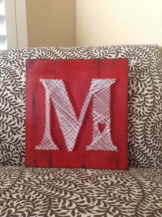 How To Make String Art Letters? Check more at http://alldiymasters.com/how-to-make-string-art-letters/