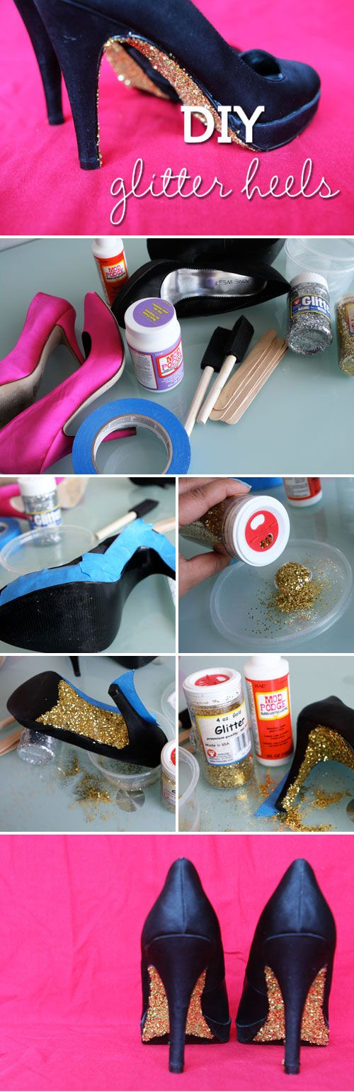 DIY Glitter Heels http://www.hellobrit.com/style/diy-glitter-heels-add-some-sparkle-to-your-step/