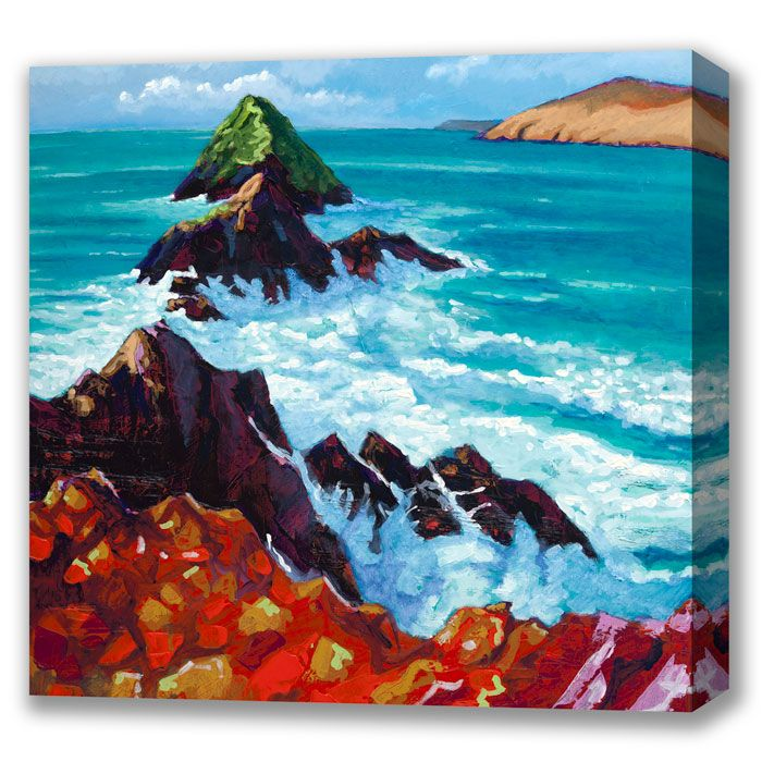 Box Canvas of 'Slea Head' by Eoin O'Connor, available in sizes 44in X 44in & 24in X 24in, also available in multiple sizes as a framed print
