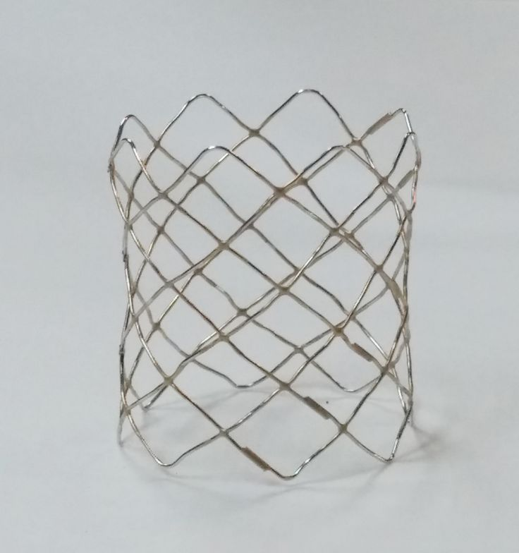 A collapsible stent like this was used by Dr. Keith Horvath, #NHLBI, to help develop a real-time  MRI-guided robotic surgical procedure for heart valve replacement.