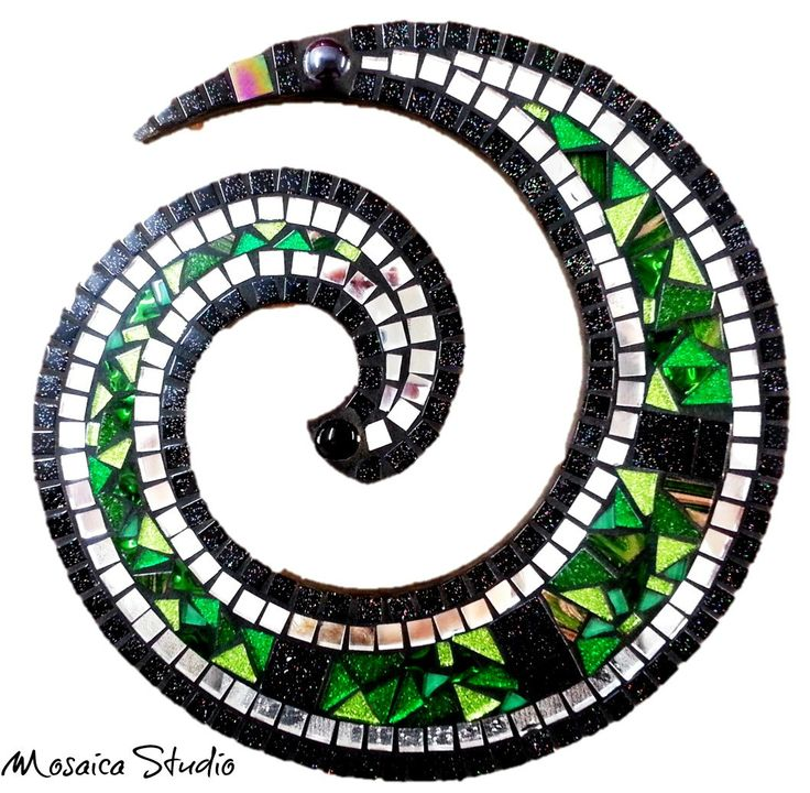 Mosaic Koru - Kit-Set by MosaicStudio1 on Etsy
