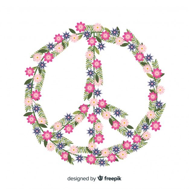 Download Floral Peace Sign Background For Free Peace Sign Peace Vector Free Free peace sign screensavers wallpaper