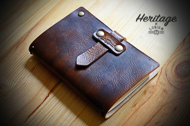 """SONIUM LEATHER"" Notebook Cover with old vintage leather"