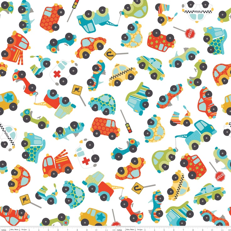 Peak Hour fabric-adorable cars and trucks!