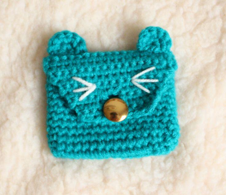 Etui/tasje blauwe kat #donderdag #handgemaakt #baby #kinderen #kinderkamer #portomonee #kat #poes #etui #wijzijndonderdag