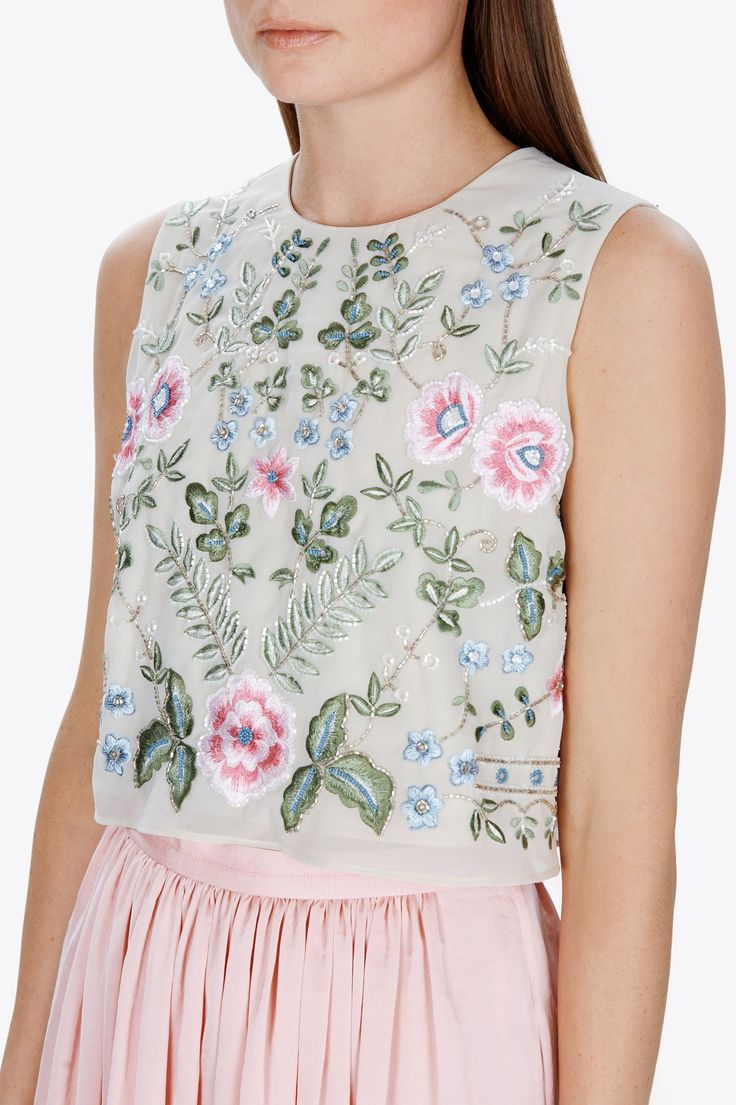 Needle & Thread Spring Embroidery Top | Contemporary British Clothing