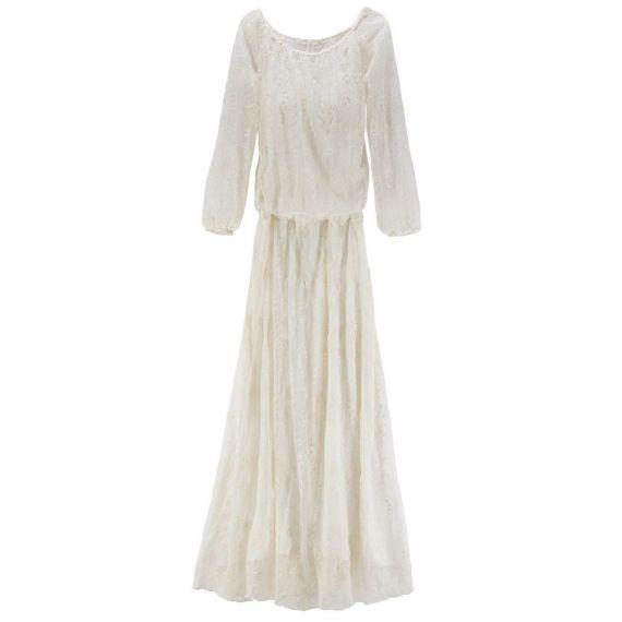 Ein Traum aus weißer Spitze. DAS Kleid für eine Hochzeit im Boho-Style oder für ganz besondere Anlässe.