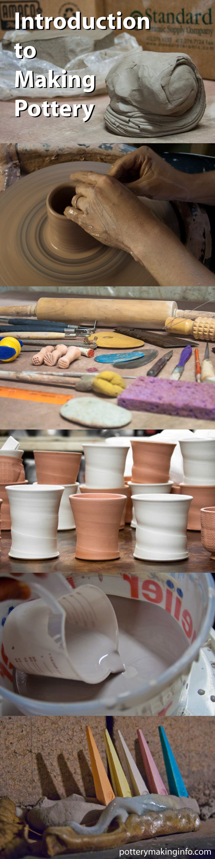 An introduction to making pottery. http://www.potterymakinginfo.com/pottery-making/