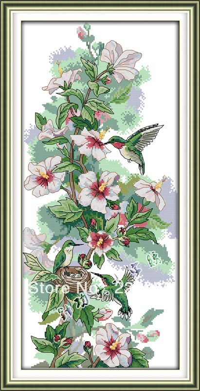 Free-Shipping-Diy-kits-for-embroidery-Cross-Stitch-Sets-font-b-Hummingbird-b-font-Cross-Stitch.jpg (411×800)