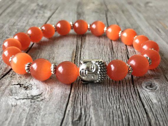 Buddha armband Oranje armband Surf armband Buddha door KennlyDesign