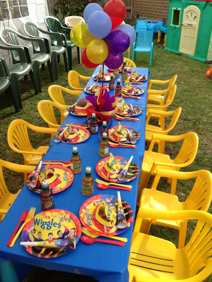 2nd birthday Wiggles themed party